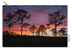 Carry-all Pouch featuring the photograph Sunset Pines by Paul Rebmann