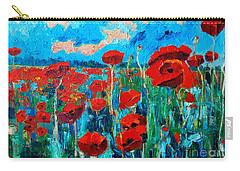 Sunset Poppies Carry-all Pouch by Ana Maria Edulescu