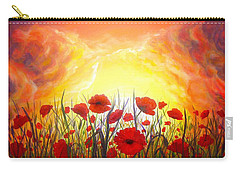 Carry-all Pouch featuring the painting Sunset Poppies by Lilia D