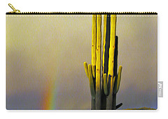 Carry-all Pouch featuring the photograph Sunset Rainbow Cactus by John Haldane