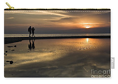 Sunset Reflection And Silhouettes Carry-all Pouch