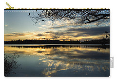 Carry-all Pouch featuring the photograph Sunset Reflection by Yulia Kazansky