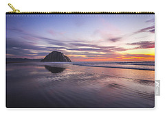 Sunset Reflections At Morro Bay Beach Rock Fine Art Photography Print Carry-all Pouch