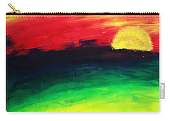 Carry-all Pouch featuring the painting Sunset by Salman Ravish