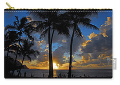 Carry-all Pouch featuring the photograph Sunset Silhouettes by Lynn Bauer