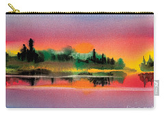 Carry-all Pouch featuring the painting Sunset by Teresa Ascone