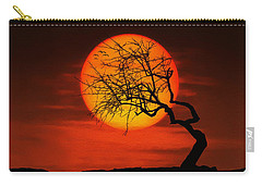 Sunset Tree Carry-all Pouch by Bess Hamiti