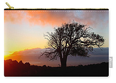 Sunset Tree In Maui Carry-all Pouch by Venetia Featherstone-Witty