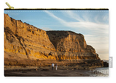 Sunset Walk At Flat Rock  La Jolla California Carry-all Pouch