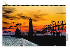 Sunset Walking On Grand Haven Pier Carry-all Pouch