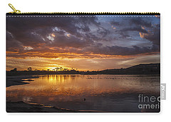 Sunset With Clouds Over Malibu Beach Lagoon Estuary Carry-all Pouch