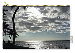 Sunset With Palm Trees Carry-all Pouch by Pamela Walton