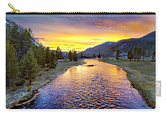 Sunset Yellowstone National Park Madison River Carry-all Pouch