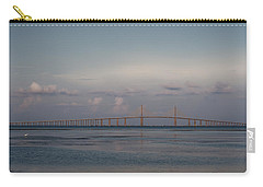Carry-all Pouch featuring the photograph Sunshine Skyway Bridge by Steven Sparks