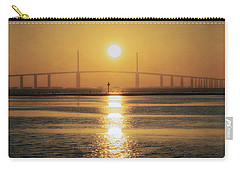 Carry-all Pouch featuring the photograph Sunshine Skyway Bridge Sunrise by Steven Sparks