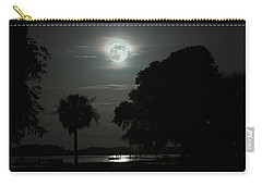 Super Moon Over Wimbee Creek Carry-all Pouch
