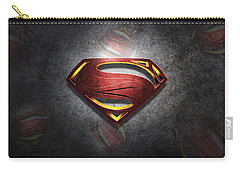 Superman Man Of Steel Digital Artwork Carry-all Pouch