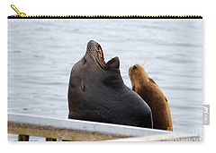 Supersized Sea Lion And Friend Carry-all Pouch