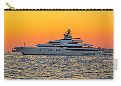 Superyacht On Yellow Sunset View Carry-all Pouch