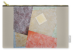 Carry-all Pouch featuring the painting Suprematist Composition No 1 With A Square by Ben Gertsberg