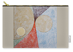 Carry-all Pouch featuring the painting Suprematist Composition No 2 With A Circle by Ben Gertsberg