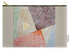 Carry-all Pouch featuring the painting Suprematist Composition No 3 With A Triangle by Ben Gertsberg