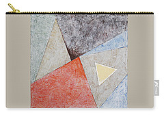 Carry-all Pouch featuring the painting Suprematist Composition No 4 With A Triangle by Ben Gertsberg