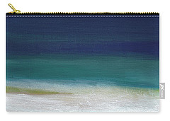 Surf And Sky- Abstract Beach Painting Carry-all Pouch