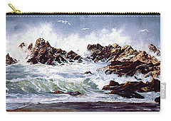 Surf At Lincoln City Carry-all Pouch
