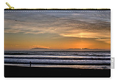 Carry-all Pouch featuring the photograph Surf Fishing by Michael Gordon