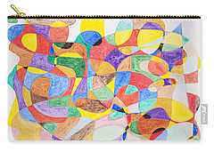 Carry-all Pouch featuring the painting Abstract Dance Party  by Stormm Bradshaw