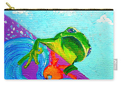 Surfing Froggie Carry-all Pouch