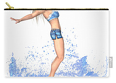 Surfing Girl Carry-all Pouch by Renate Janssen