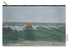 Surfing Golden Carry-all Pouch