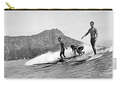 Surfing In Honolulu Carry-all Pouch