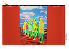 Carry-all Pouch featuring the painting Surfs Up by Deborah Boyd