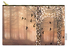 Surreal Fantasy Nature Trees Woodlands Forest Sparkling Lights Birds And Trees Nature Landscape Carry-all Pouch