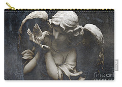 Ethereal Guardian Angel With Dove Of Peace Carry-all Pouch