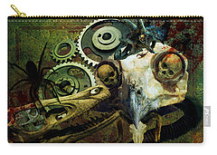 Carry-all Pouch featuring the painting Surreal Nightmare by Ally  White