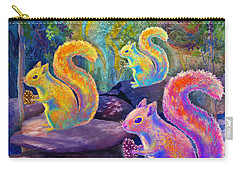 Surreal Squirrels In Square Carry-all Pouch