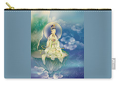 Carry-all Pouch featuring the photograph Sutra-holding Kuan Yin by Lanjee Chee