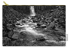 Svartifoss Waterfall In Black And White Carry-all Pouch