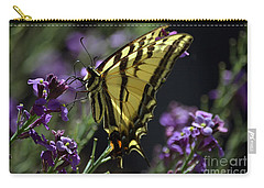 Swallowtail Butterfly On Lavender  Carry-all Pouch