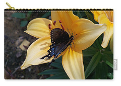 Carry-all Pouch featuring the photograph Swallowtail On Asiatic Lily by Kathryn Meyer