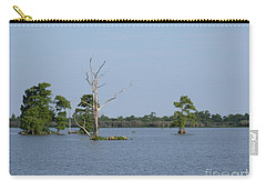 Carry-all Pouch featuring the photograph Swamp Cypress Trees by Joseph Baril