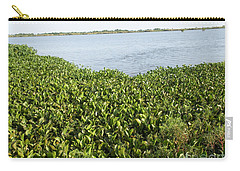 Carry-all Pouch featuring the photograph Swamp Hyacinths Water Lillies by Joseph Baril