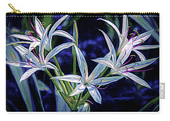 Carry-all Pouch featuring the photograph Swamp Lilies by Steven Sparks
