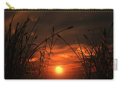 Carry-all Pouch featuring the digital art Swamp Sunset  by Tim Fillingim