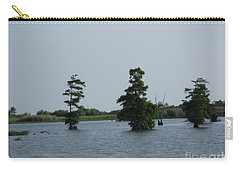 Carry-all Pouch featuring the photograph Swamp Tall Cypress Trees  by Joseph Baril