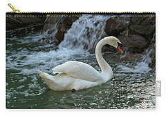 Swan A Swimming Carry-all Pouch by Michele Myers